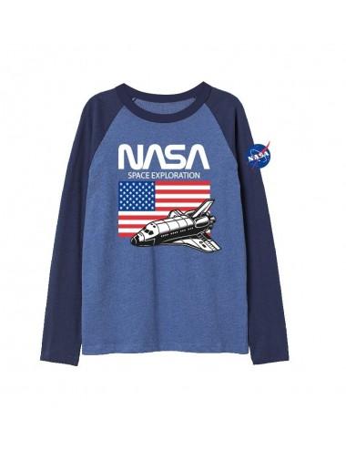 Triko s dl. rukávem NASA - modré