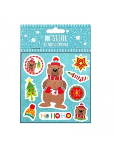Vánoční samolepky s vůní - medvěd