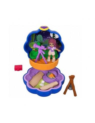 Kapesní domeček s panenkou Polly a doplňky - táboření