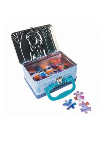 Plechový kufřík + puzzle (24 dílků) Ledové království
