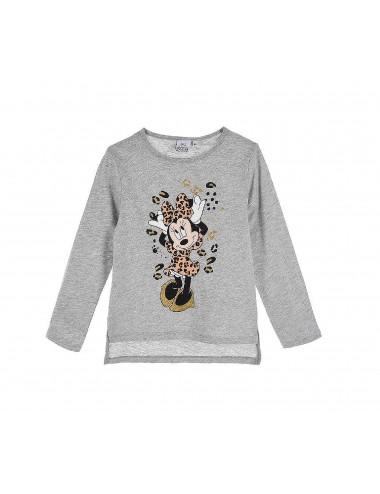 Triko s dl. rukávem Minnie Mouse - šedé
