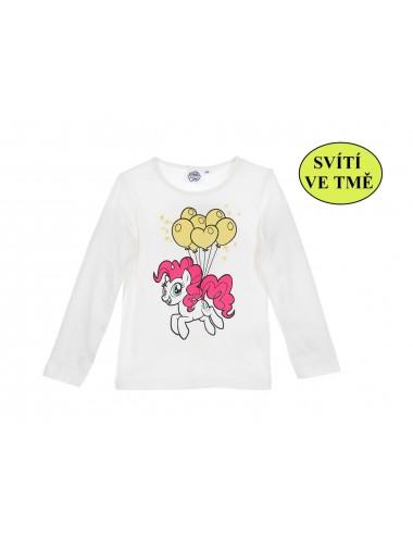 Svítící triko ve tmě s dl. rukávem My little pony - bílé