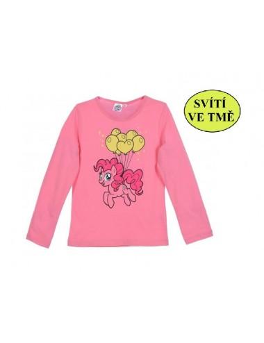 Svítící triko ve tmě s dl. rukávem My little pony - růžové