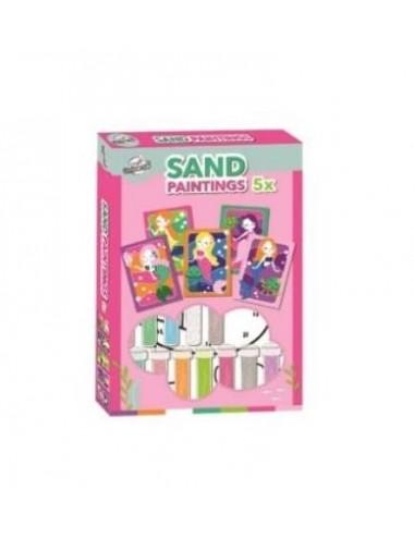 Malování pískem - mořské panny