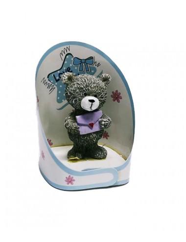 Dárkový medvídek pro maminku - modrý