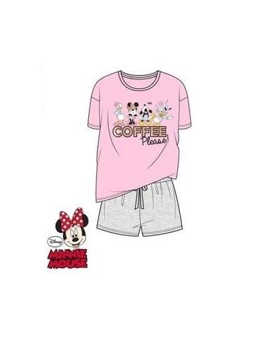 Dámské pyžamo Minnie Mouse & přátelé - růžová