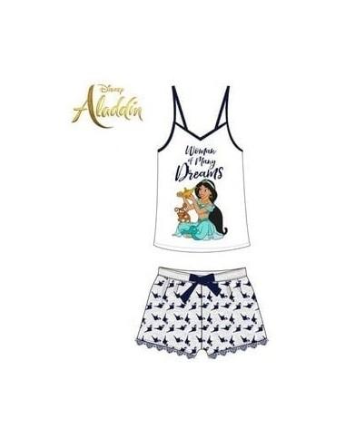 Dámské pyžamo Aladin - šedo-bílá