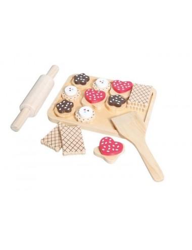 Dřevěná sada do dětské kuchyňky (25ks)