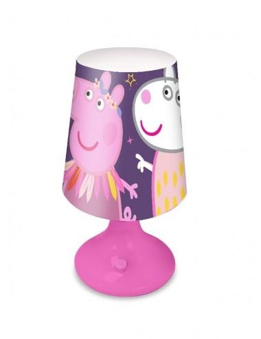 Lampička Prasátko Peppa - růžovo-fialová