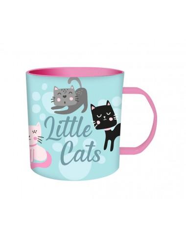 Plastový hrneček s kočičkami