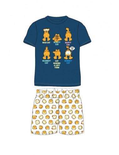 Triko s kr. rukávem + kraťase Garfield - modrá