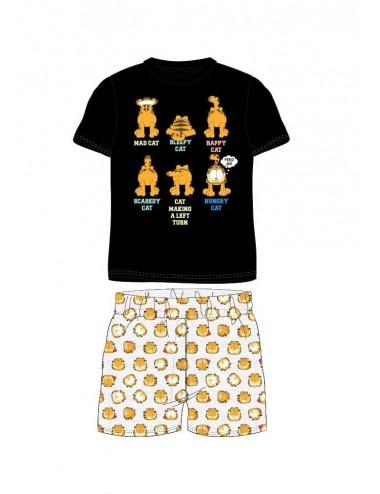 Triko s kr. rukávem + kraťase Garfield - černá