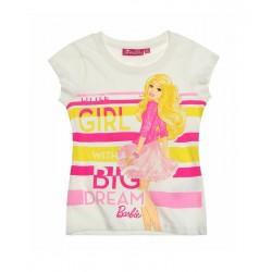Triko s kr. rukávem Barbie - bílé