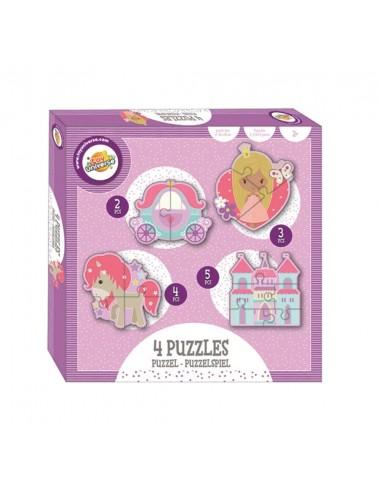 Puzzle pro nejmenší - princezny a jednorožci (2, 3, 4 a 5 dílků)
