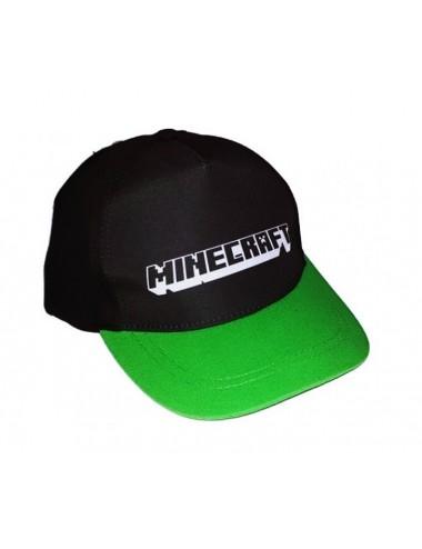 Kšiltovka Minecraft (černá se zeleným kšiltem)
