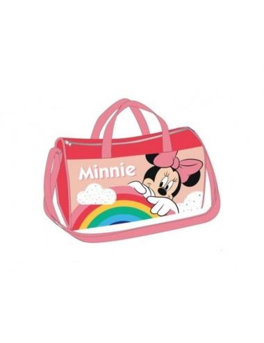 Sportovní taška Minnie Mouse - světle růžový popruh