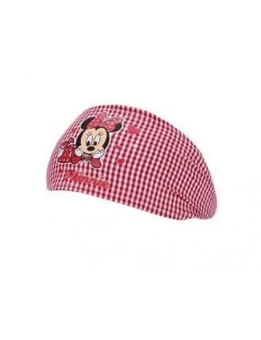 Baby šátek - čelenka do vlasů Minnie Mouse - červená