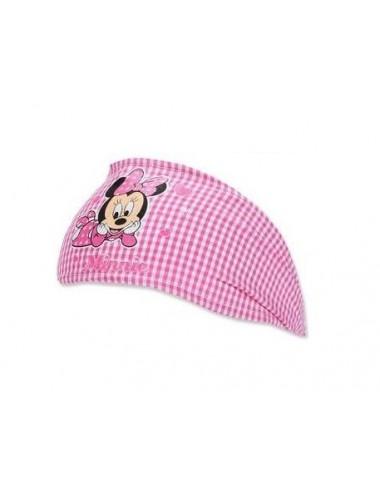 Baby šátek - čelenka do vlasů Minnie Mouse - růžová