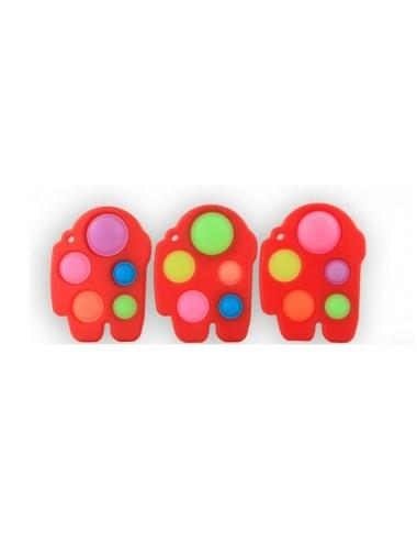 Antistresová hračka POP IT - červená