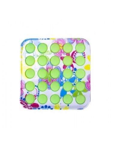 POP IT game - barevný čtverec (zelená)