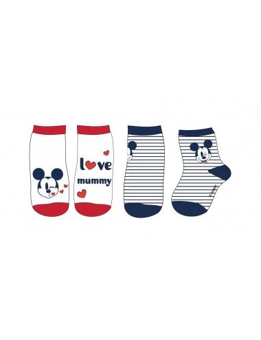 Baby ponožky Mickey Mouse (2 pack)