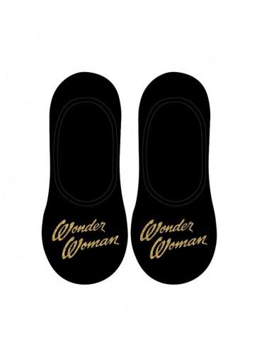 Nízké kotníkové ponožky Wonder woman - černé