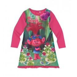 Noční košile Trollové - růžová