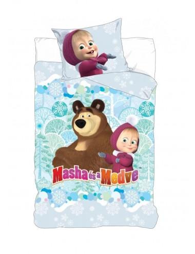 Povlečení na velkou postel Máša & medvěd