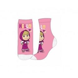 Ponožky Máša a medvěd - růžové