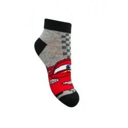 Kotníkové ponožky Auta - šedé