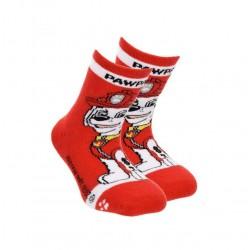 Teplé ABS ponožky Tlapková patrola - červené (Marshall)