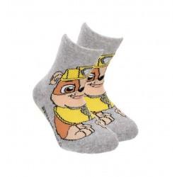 Teplé ABS ponožky Tlapková patrola - šedé (Rubble)