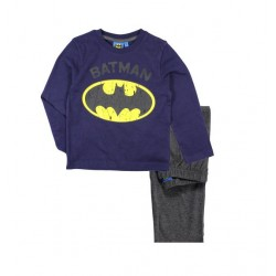 Pyžamo s dl. rukávem + kalhoty Batman - modrá