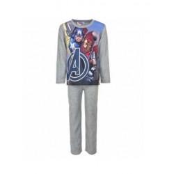Teplé pyžamo s dl. rukávem + kalhoty Avengers - šedé