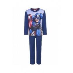 Teplé pyžamo s dl. rukávem + kalhoty Avengers - modré