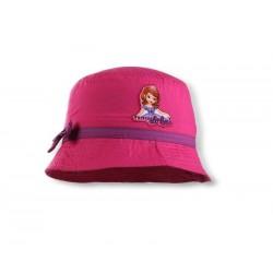 Letní klobouček Sofie první - tmavě růžový