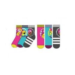 Ponožky Soy Luna (3pack) - šedé s pruhem