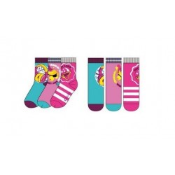 Ponožky Soy Luna (3pack) - růžové s pruhem