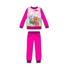 Dívčí tepláková souprava Tlapková patrola - růžová