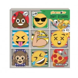 Samolepky v krabičce Emoji...
