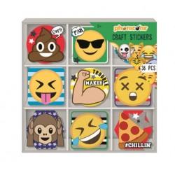 Samolepky v krabičce Emoji (36ks)