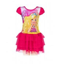 Šaty Barbie - tmavě růžové