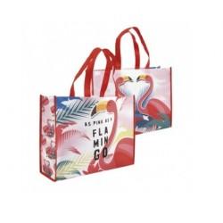 Pevná nákupní taška Plameňák