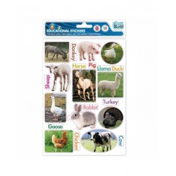 Edukační samolepky (zvířata - anglicky)
