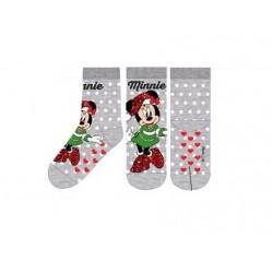 ABS teplé ponožky Minnie Mouse (vánoční) - šedé