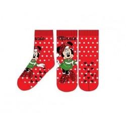 ABS teplé ponožky Minnie Mouse (vánoční) - červené