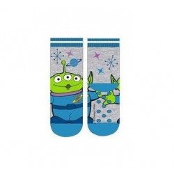 ABS teplé ponožky Příběh hraček - modré (mimozemšťan)