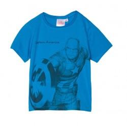 Triko s krátkým rukávem Avengers - modré (Kapitán Amerika)
