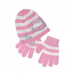 Set čepice + rukavice Hello...