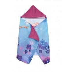 Osuška s kapucí Ledové království - fialová